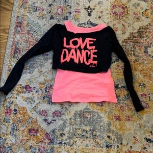 Love Dance layered shirt
